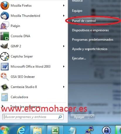 Activar telnet windows 7