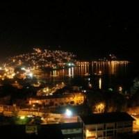 Vista nocturna de Tomé