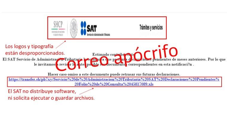 correos falsos a nombre del SAT