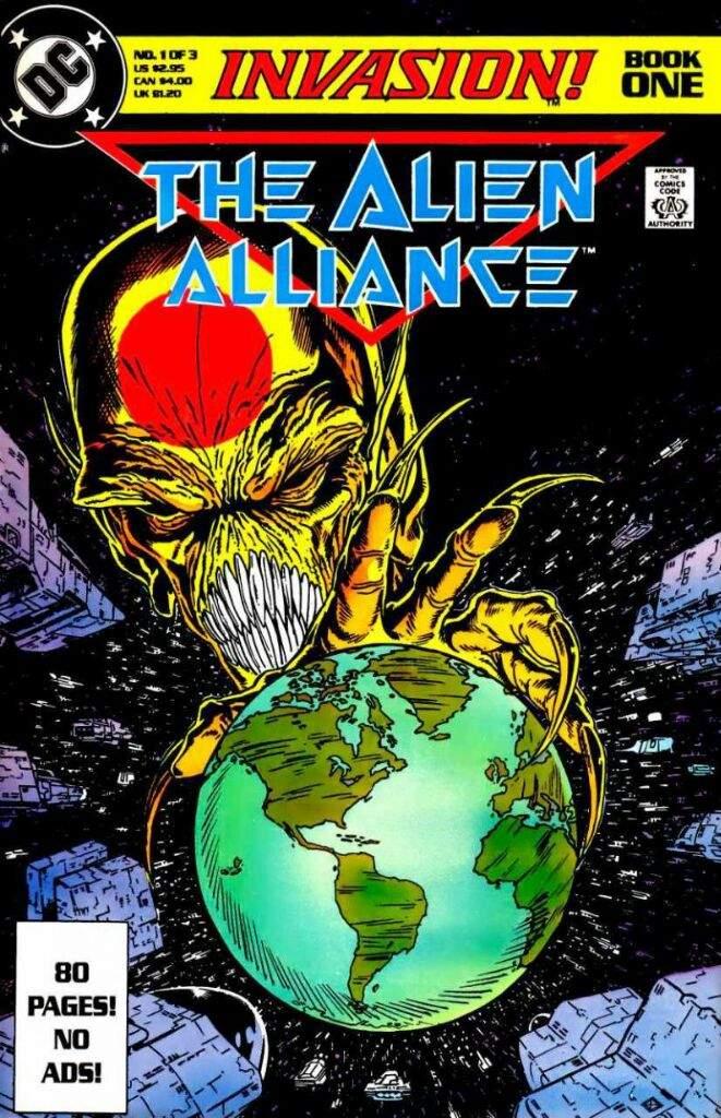 Portada del cómic ¡Invasion! sobre el que se basa la serie.