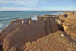 El Cotillo Piedra Playa Cliff Landslides Warning
