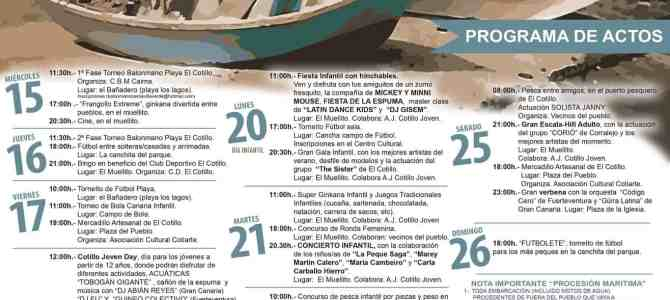 El Cotillo Fiesta 2018 – Program of Events