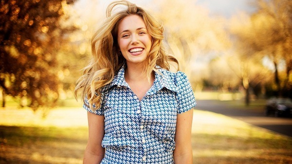 woman with amazing smile