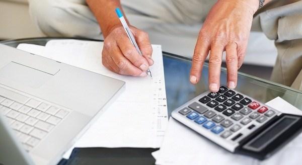 man managing finance