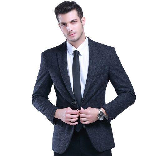 Slim-Fit English-Style-Men-Fashion-Suit-