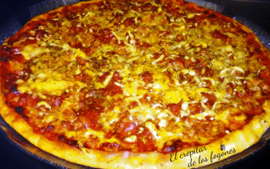 pizza de ternera y bacon