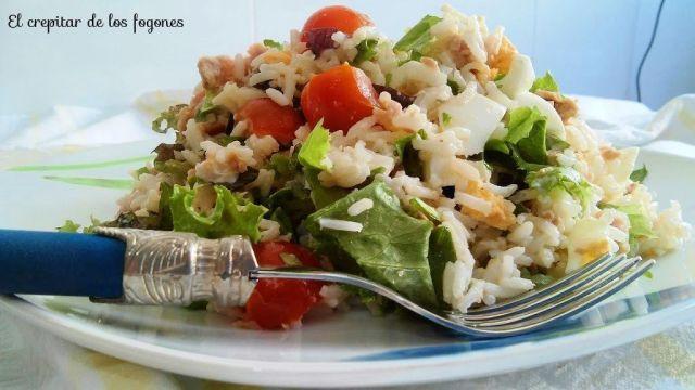 arroz en ensalada
