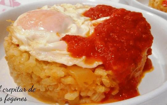 arroz con pisto