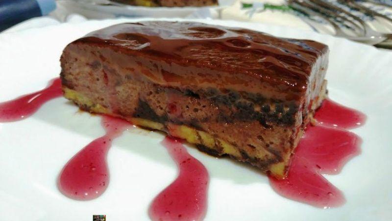 PUDIN DE MAGDALENAS CON PLÁTANO Y CHOCOLATE