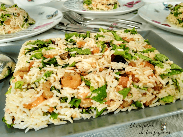 pastel frío de arroz