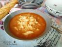 sopa de merluza y gambas