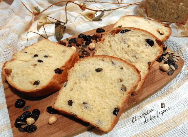 pan de molde con mezcla