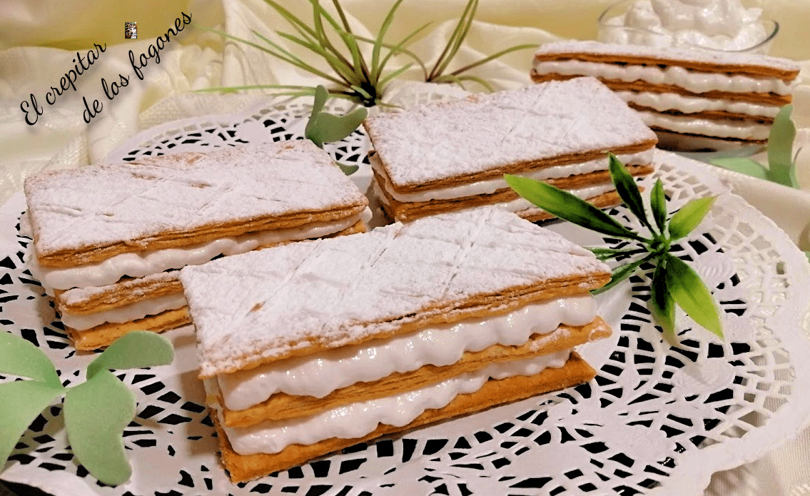 MILHOJAS DE MERENGUE ITALIANO