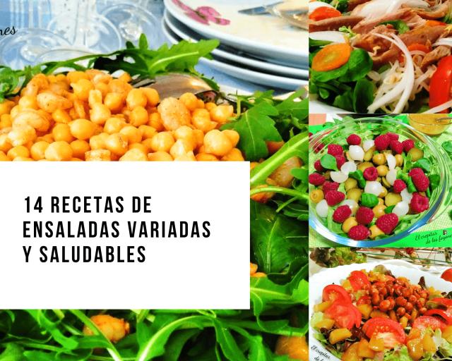 ensaladas variadas y saludables