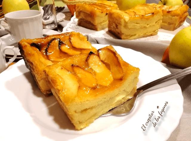 tarta de manzana con pan de molde