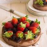 Pastel de mijo y chocolate saludable