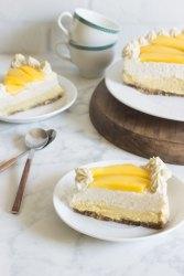 Tarta de mango y vainilla saludable