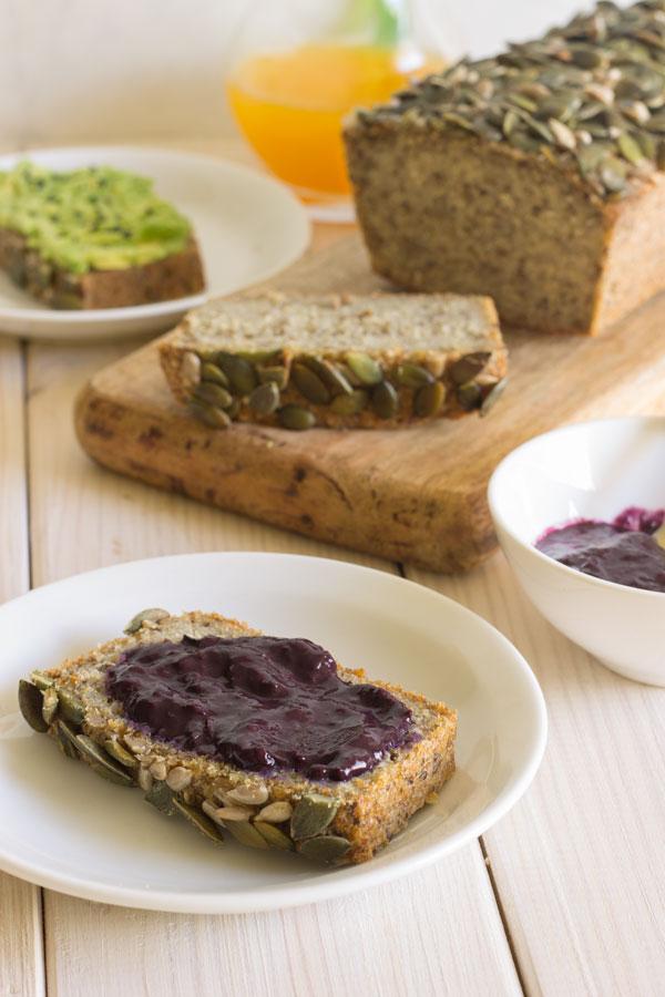Pan de quinoa y chía sin gluten