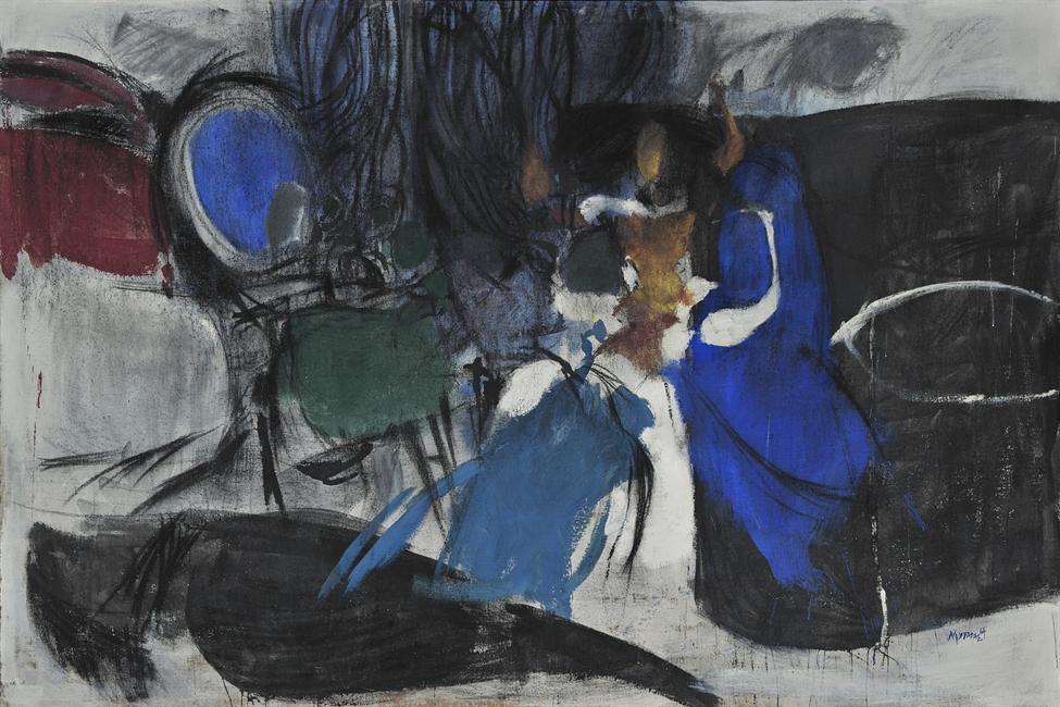 Καθρέφτης με μωβ, 1964