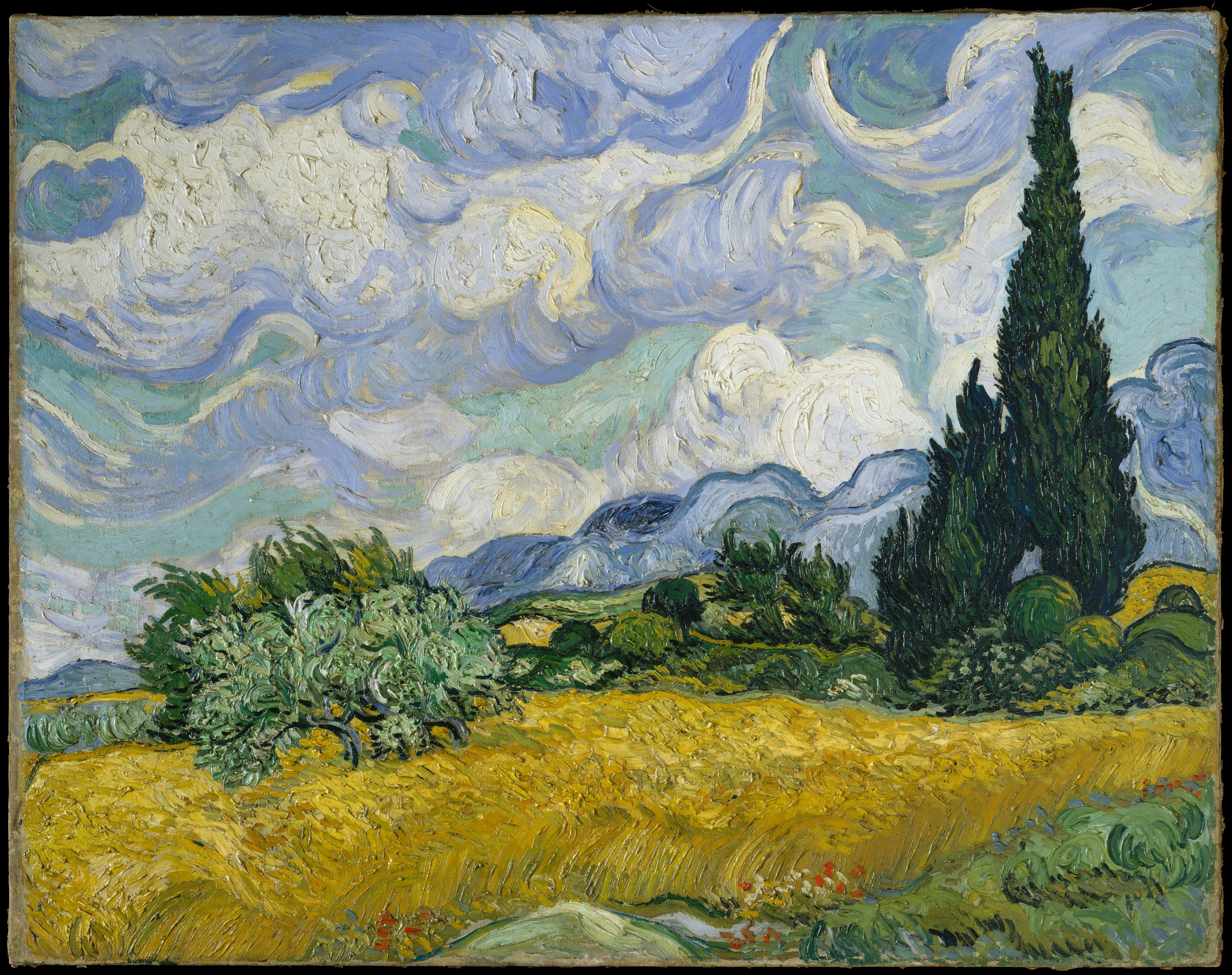 Wheat Field with Cypresses, Vincent van Gogh (Dutch, Zundert 1853–1890 Auvers-sur-Oise)