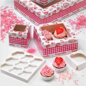 Vensterdozen voor 12 mini cupcakes