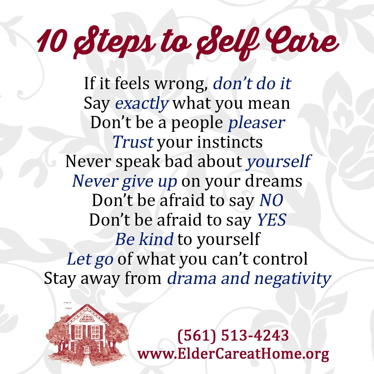 10 Steps To Self Care Copy