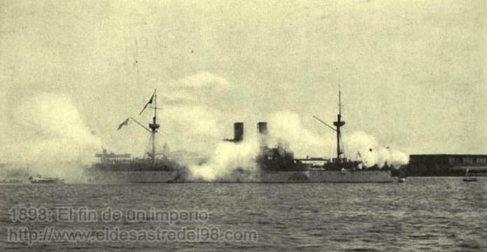 Resultado de imagen para Foto de la marina estadounidense, zarpa en 1898 con destino a la isla.