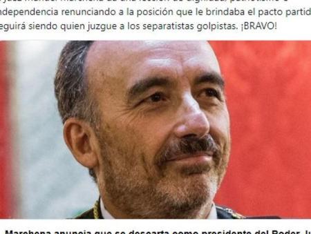 Retuit de Alba a un mensaje de Abascal sobre el juez Manuel Marchena.