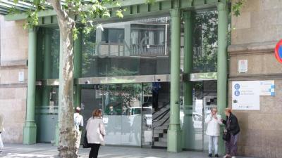 Entrada de l'Hospital Clínic de Barcelona. / BLANCA BLAY