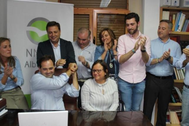 Paco Núñez, en la sede del PP de Albacete, tras saberse ganador de las primarias