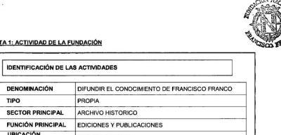 Actividad de la Fundación Franco.