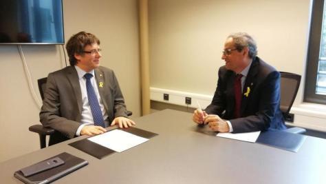 Carles Puigdemont y Quim Torra, reunidos en Berlín.