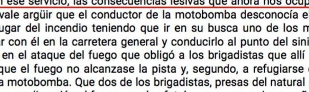 Sentencia contra la Xunta por la muerte de dos brigadistas en un incendio forestal en 2010