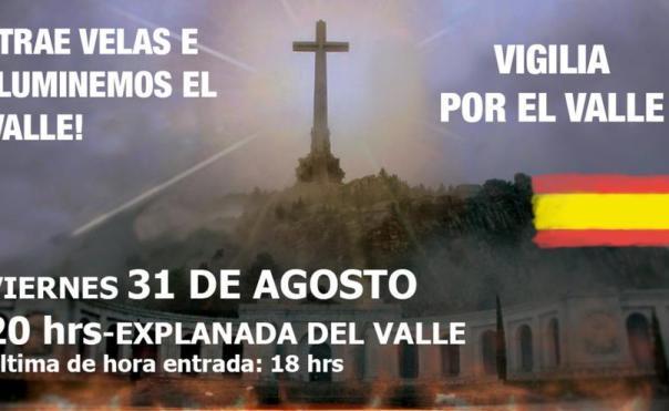 Convocatoria de la vigilia franquista en el Valle de los Caídos contra la exhumación de Franco.