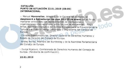Nota informativa sobre el viaje que va a realizar a Estrasburgo el delegado de la Generalitat en Suiza