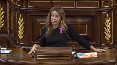 Patricia Reyes, en el Congreso criticando la prisión permanente revisable