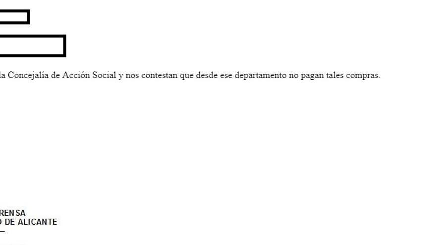 Respuesta de Ayto Alicante