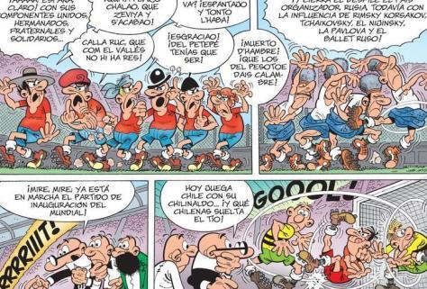 Viñetas del tebeo 'Mortadelo y Filemón. Mundial 2018'