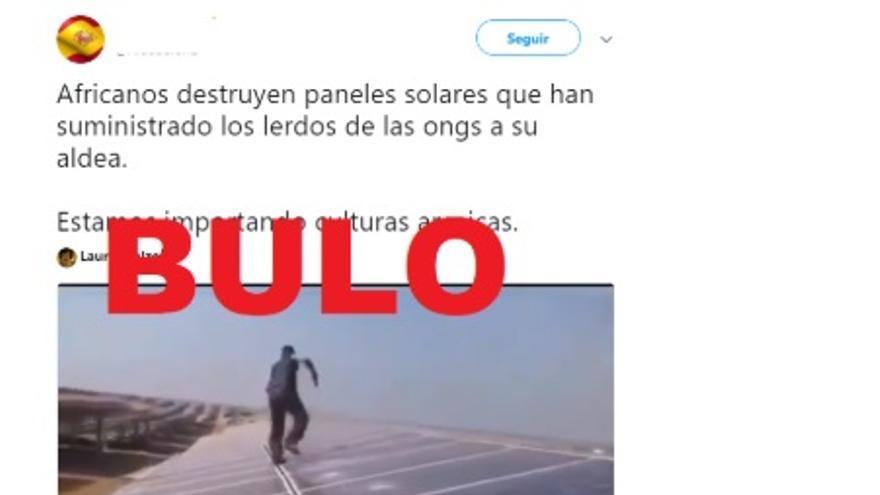 El vídeo falso de