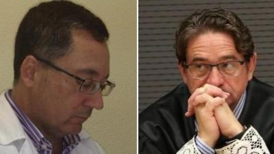 A la izquierda el médico Sergio Hernández, a la derecha el juez Salvador Alba.
