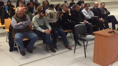 Los acusados en el juicio de Emarsa.