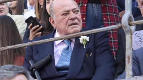 El multimillonario Juan Abelló, en junio de 2019 durante la feria taurina de San Isidro.