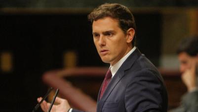 Albert Rivera durante su intervención en la segunda jornada de la sesión de investidura de Mariano Rajoy