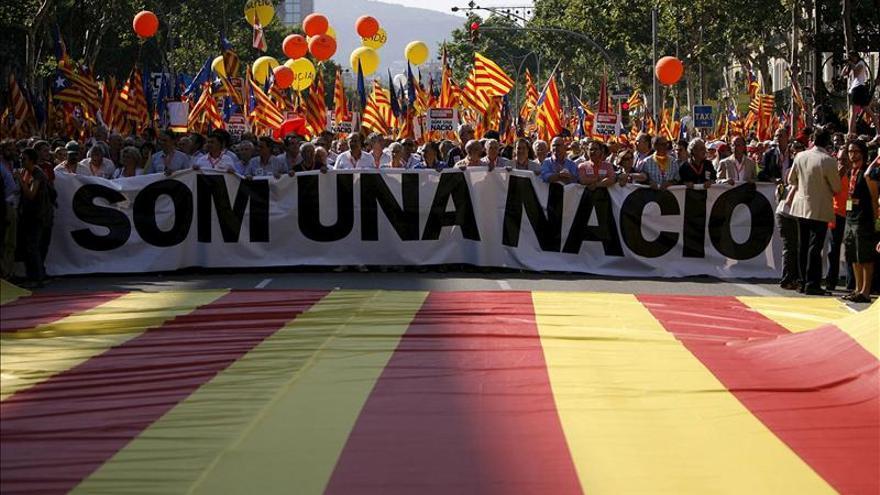 La Diada de este año, más independentista que nunca. Foto: Efe