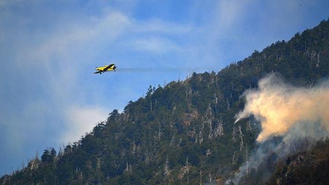 Chubut, El Hoyo:Los incendios forestales desatados ayer en los paraje