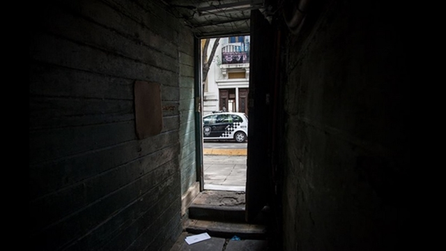 Ala externa del pabellon central. Recorrida acompanado por autoridades dentro del Hospital Interdisciplinario Psicoasistencial Dr Borda. Foto: Hernan Zenteno 3_5_12