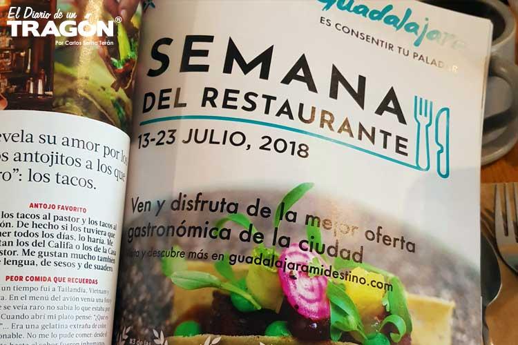 La Semana del Restaurante Guadalajara 2018