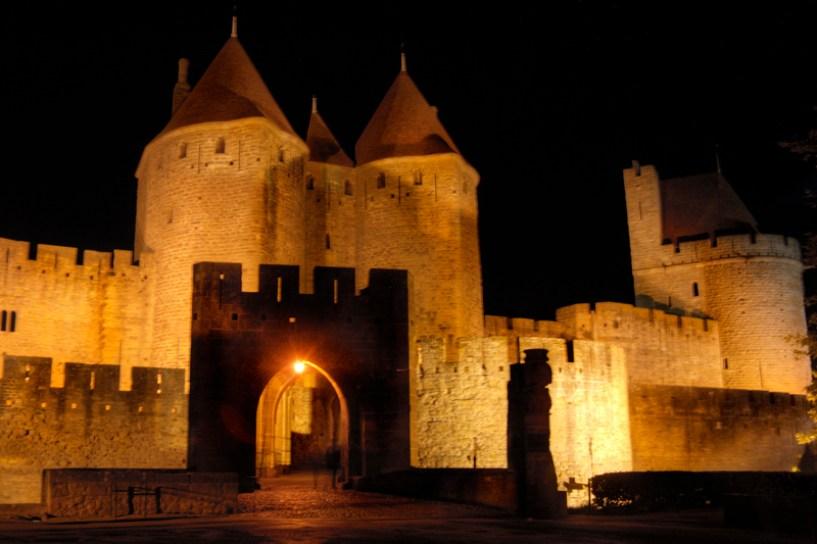 muralla noche carcassonne