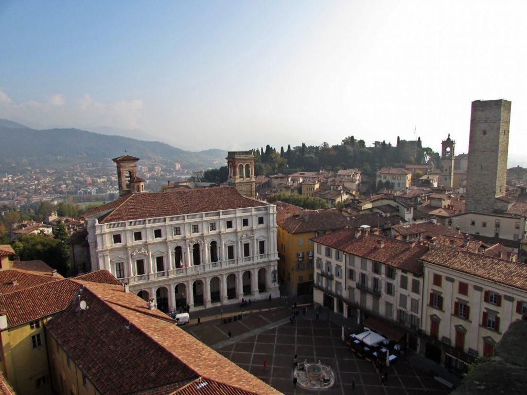 Piazza Vecchia desde el Campanone