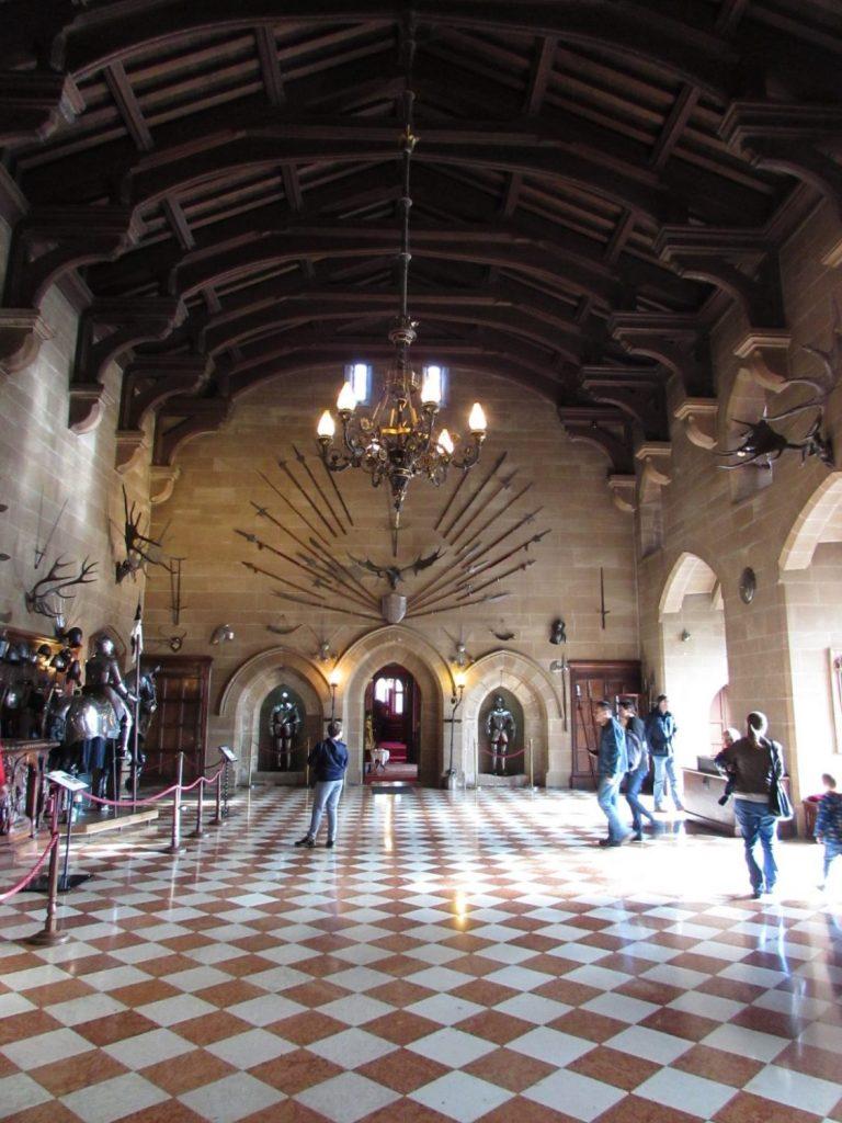 Interior del castillo de Warwick